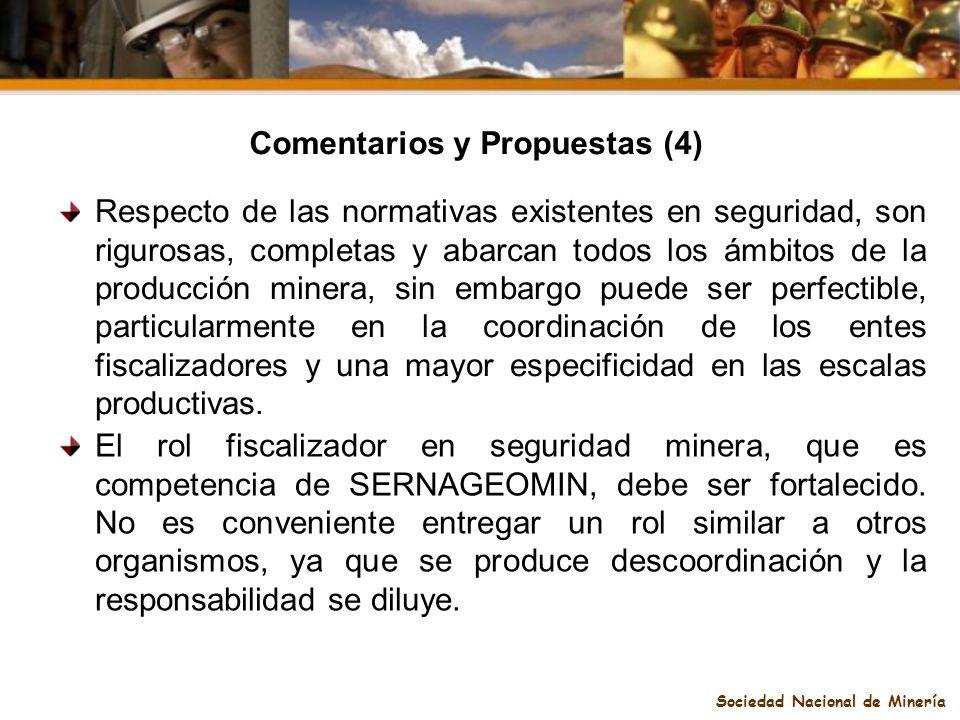 Comentarios y Propuestas (4) Sociedad Nacional de Minería