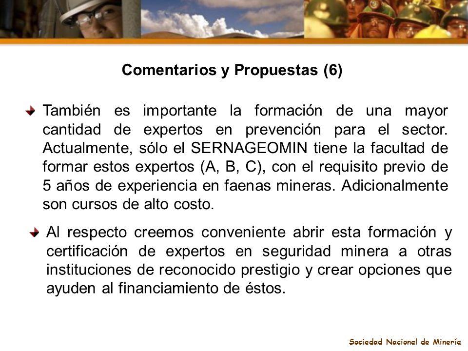 Comentarios y Propuestas (6) Sociedad Nacional de Minería