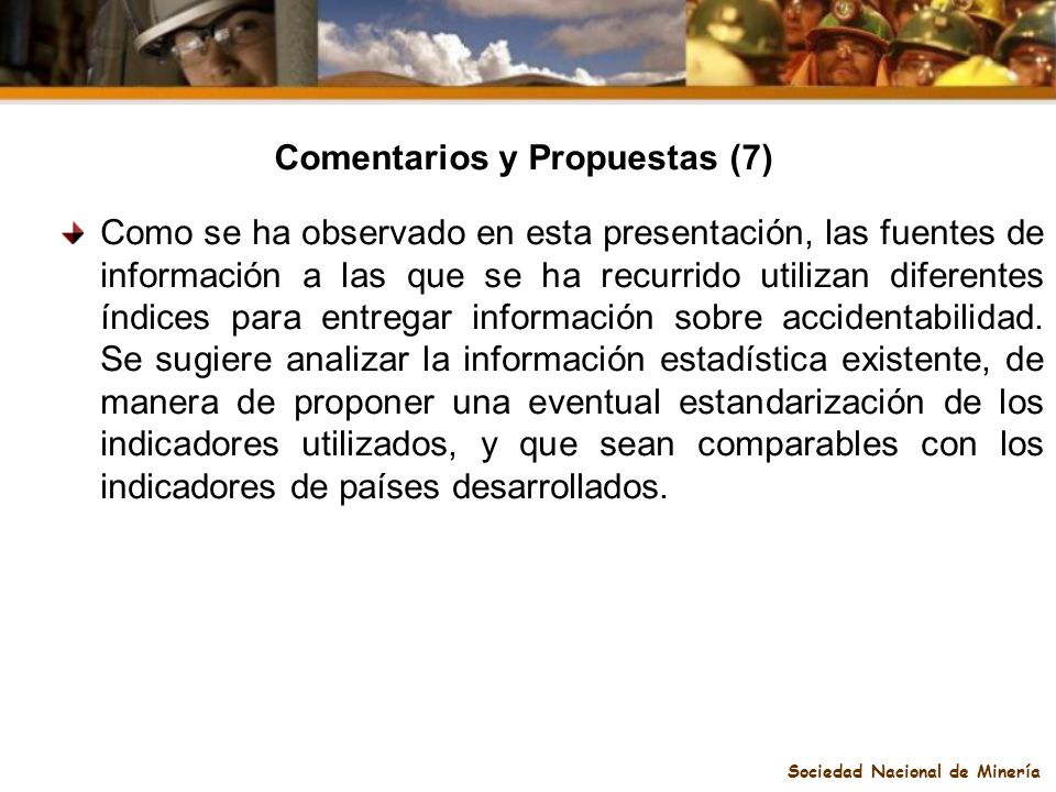 Comentarios y Propuestas (7) Sociedad Nacional de Minería