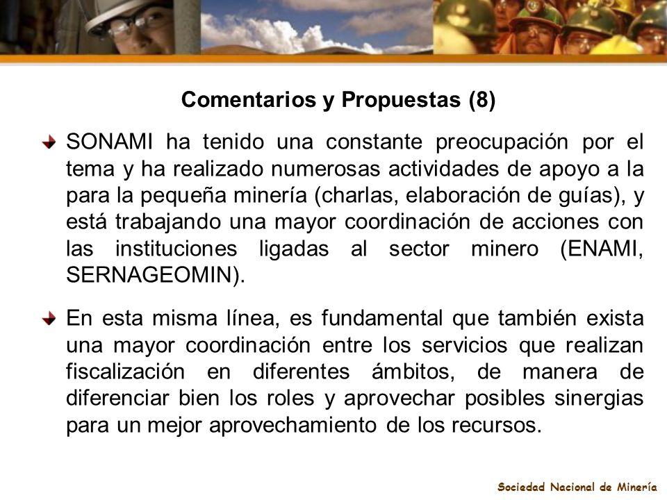 Comentarios y Propuestas (8) Sociedad Nacional de Minería