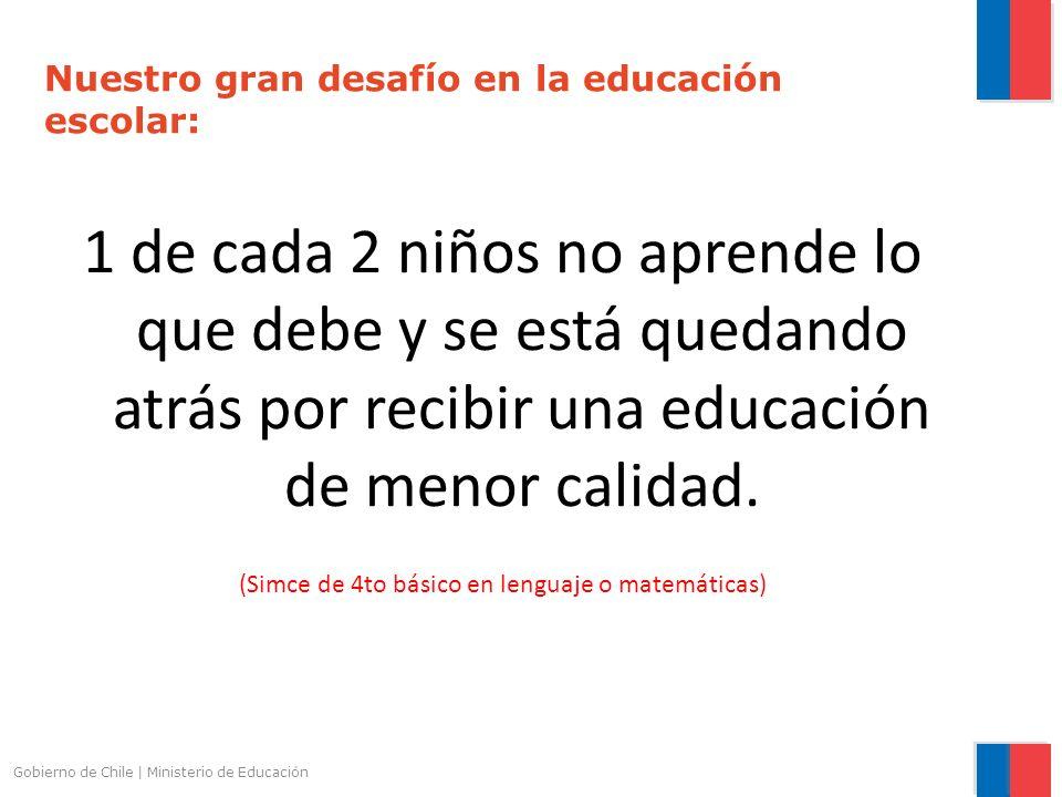 Nuestro gran desafío en la educación escolar: