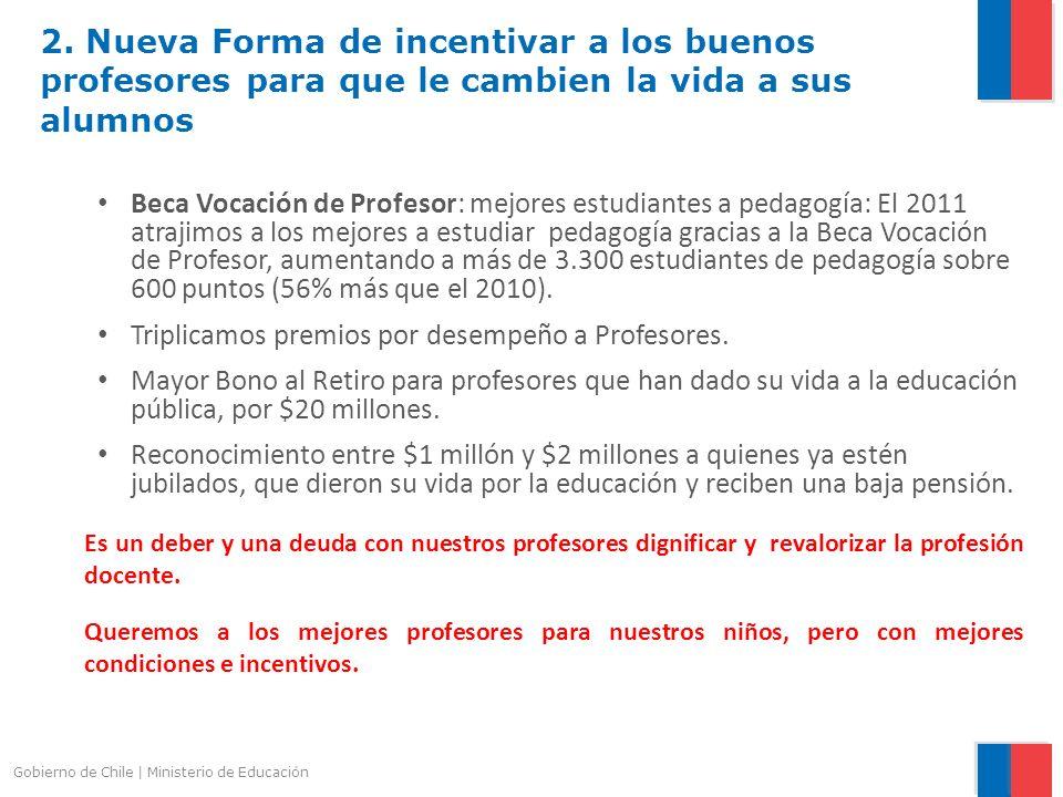 2. Nueva Forma de incentivar a los buenos profesores para que le cambien la vida a sus alumnos