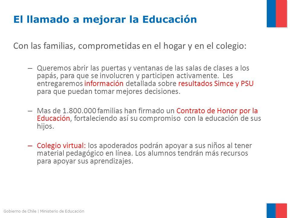 El llamado a mejorar la Educación
