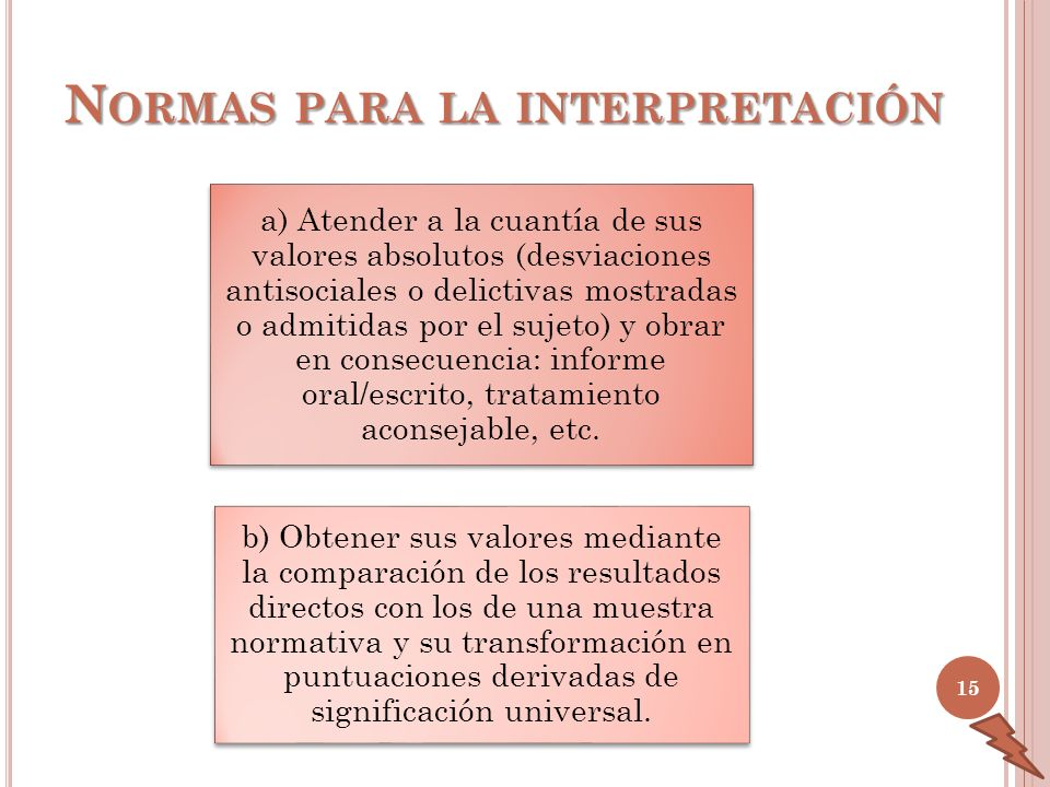 Normas para la interpretación