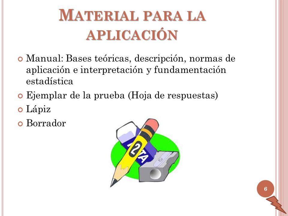 Material para la aplicación