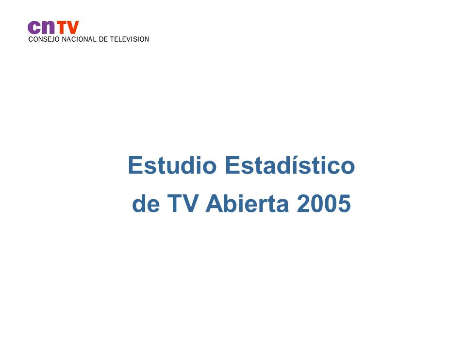 Estudio Estadístico de TV Abierta 2005