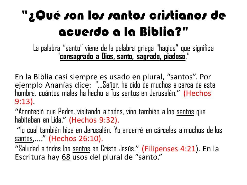 Matrimonio De Acuerdo Ala Biblia : Qué son los santos cristianos de acuerdo a la biblia