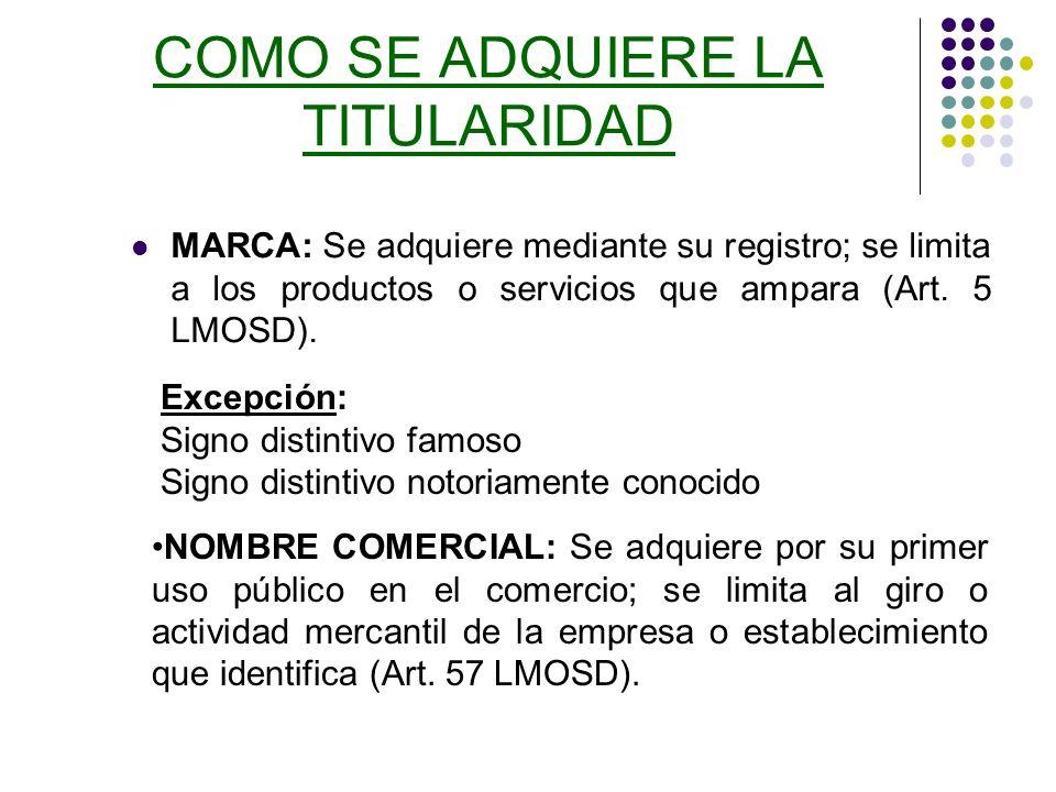 EL REGISTRO DE MARCAS Y OTROS SIGNOS DISTINTIVOS EN EL