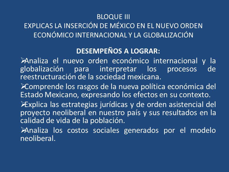 Analiza los costos sociales generados por el modelo neoliberal.