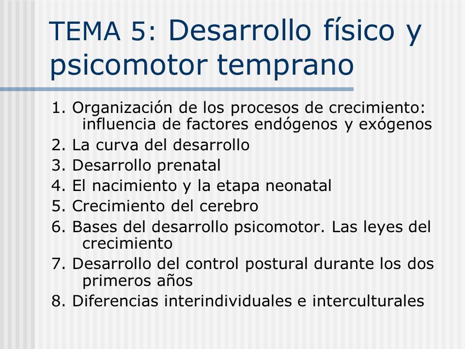 TEMA 5: Desarrollo físico y psicomotor temprano