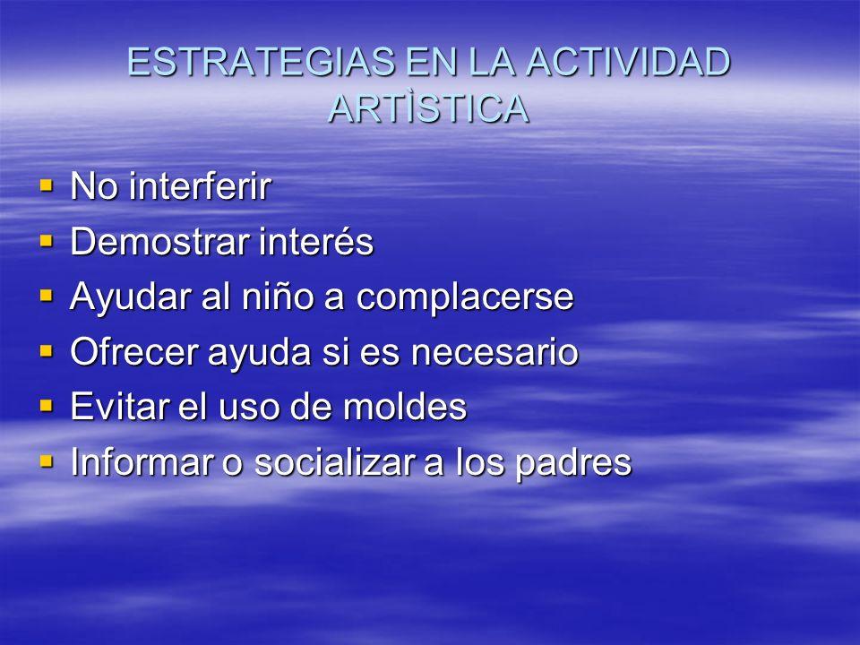 ESTRATEGIAS EN LA ACTIVIDAD ARTÌSTICA