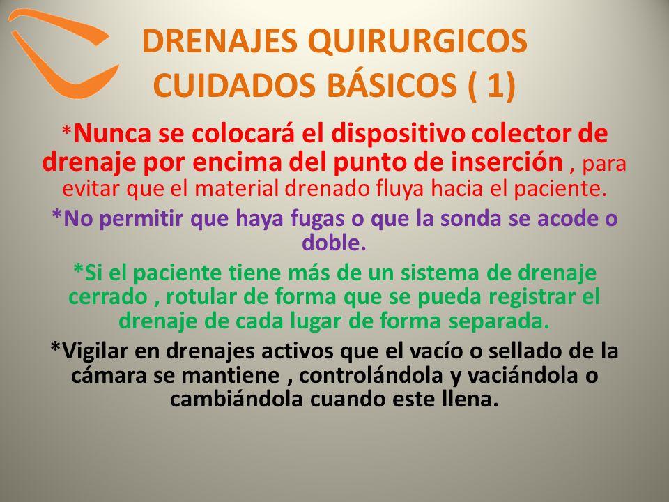 DRENAJES QUIRURGICOS CUIDADOS BÁSICOS ( 1)