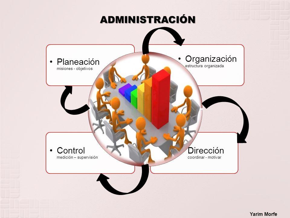 ADMINISTRACIÓN Planeación misiones - objetivos