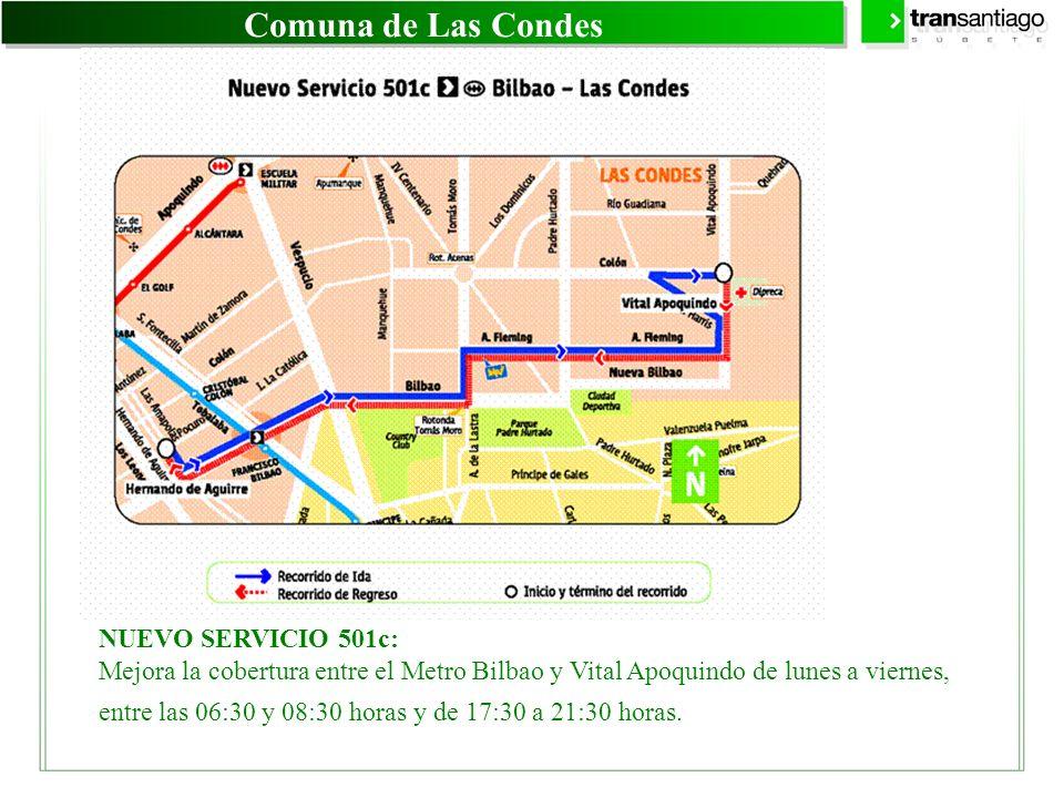 Comuna de Las Condes NUEVO SERVICIO 501c: