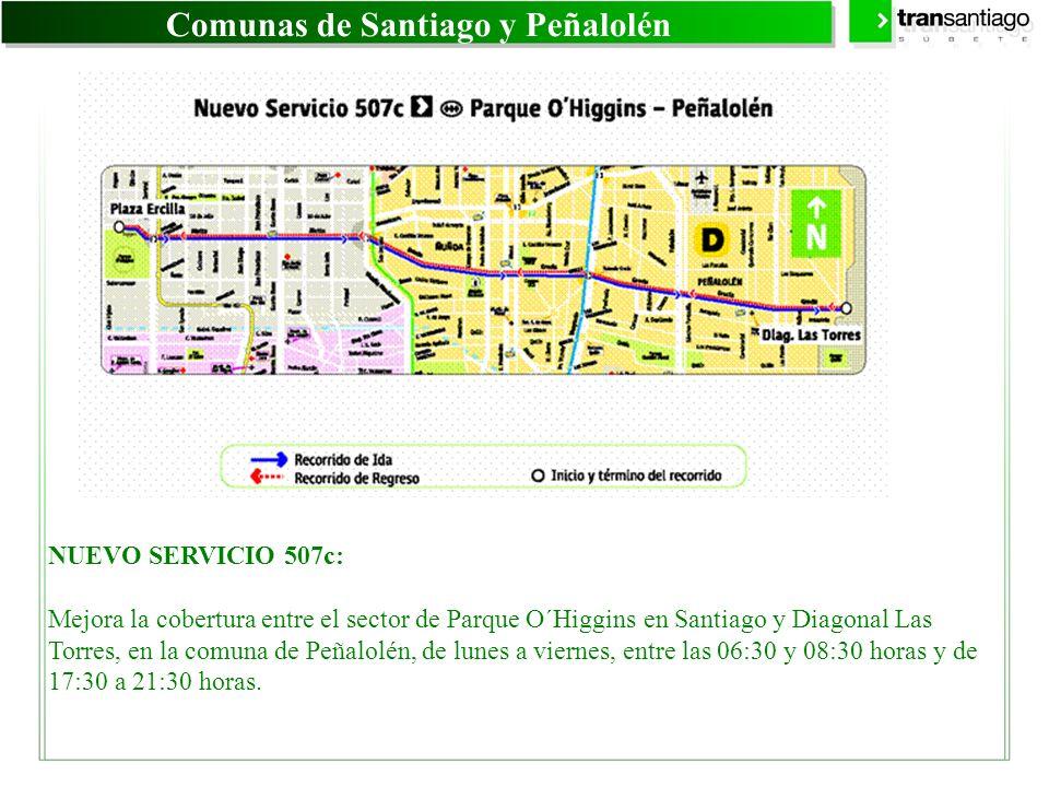 Comunas de Santiago y Peñalolén