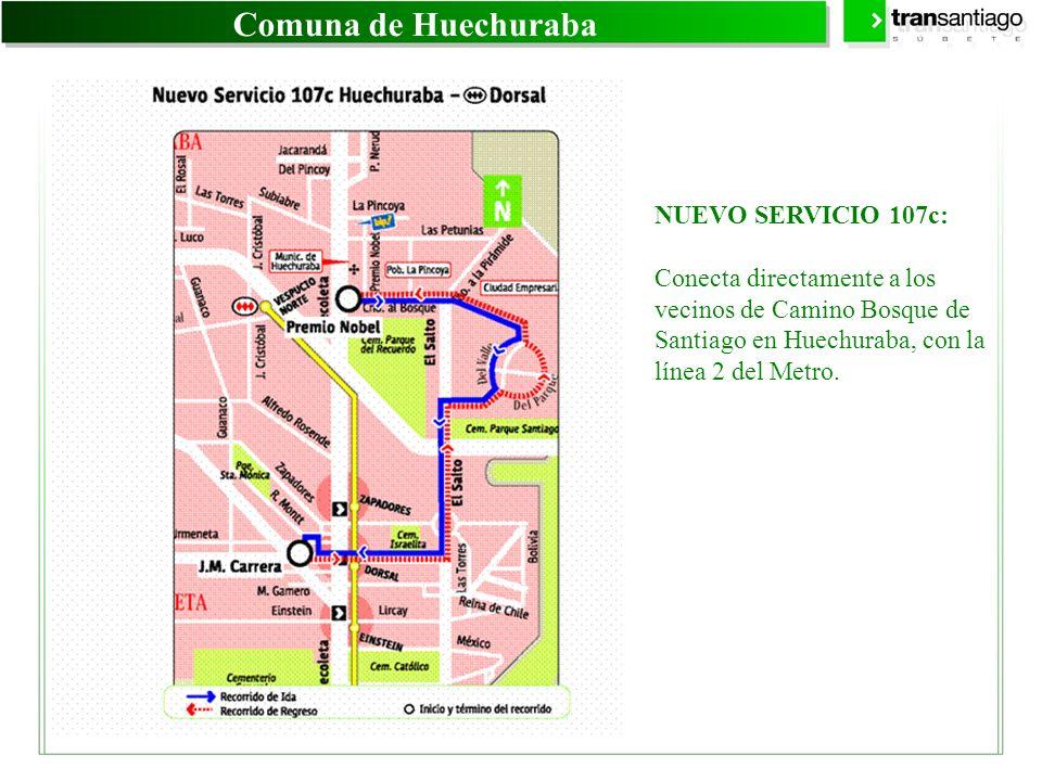 Comuna de Huechuraba NUEVO SERVICIO 107c: