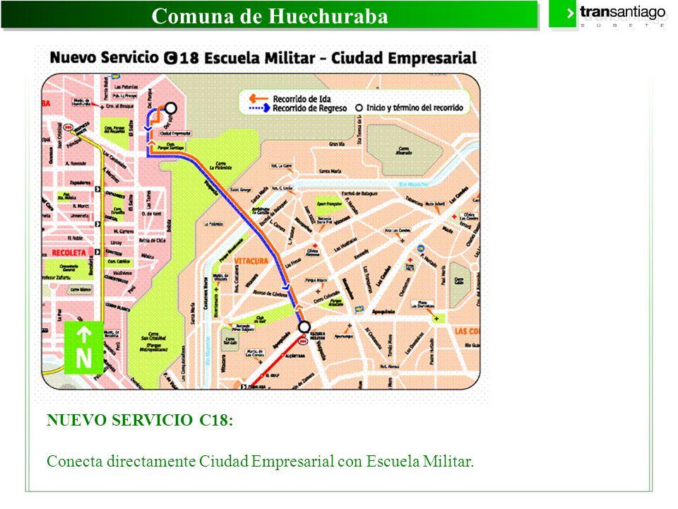 Comuna de Huechuraba NUEVO SERVICIO C18: