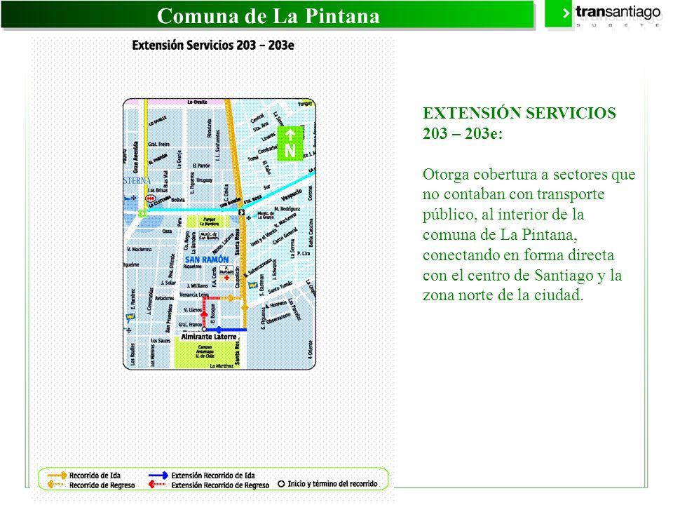 Comuna de La Pintana EXTENSIÓN SERVICIOS 203 – 203e: