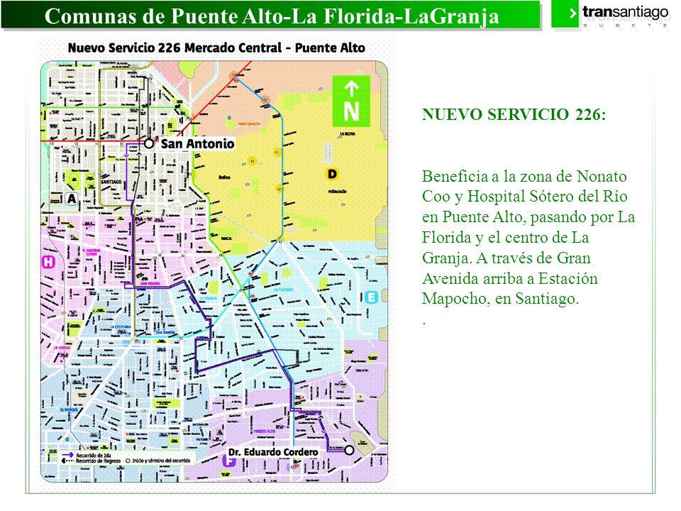 Comunas de Puente Alto-La Florida-LaGranja