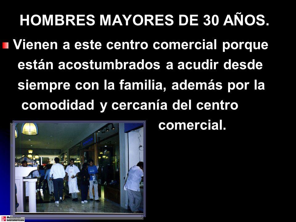 HOMBRES MAYORES DE 30 AÑOS.