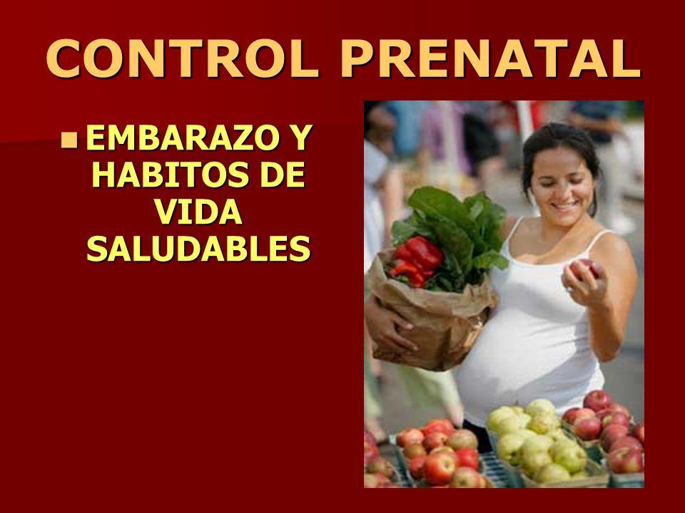 EMBARAZO Y HABITOS DE VIDA SALUDABLES