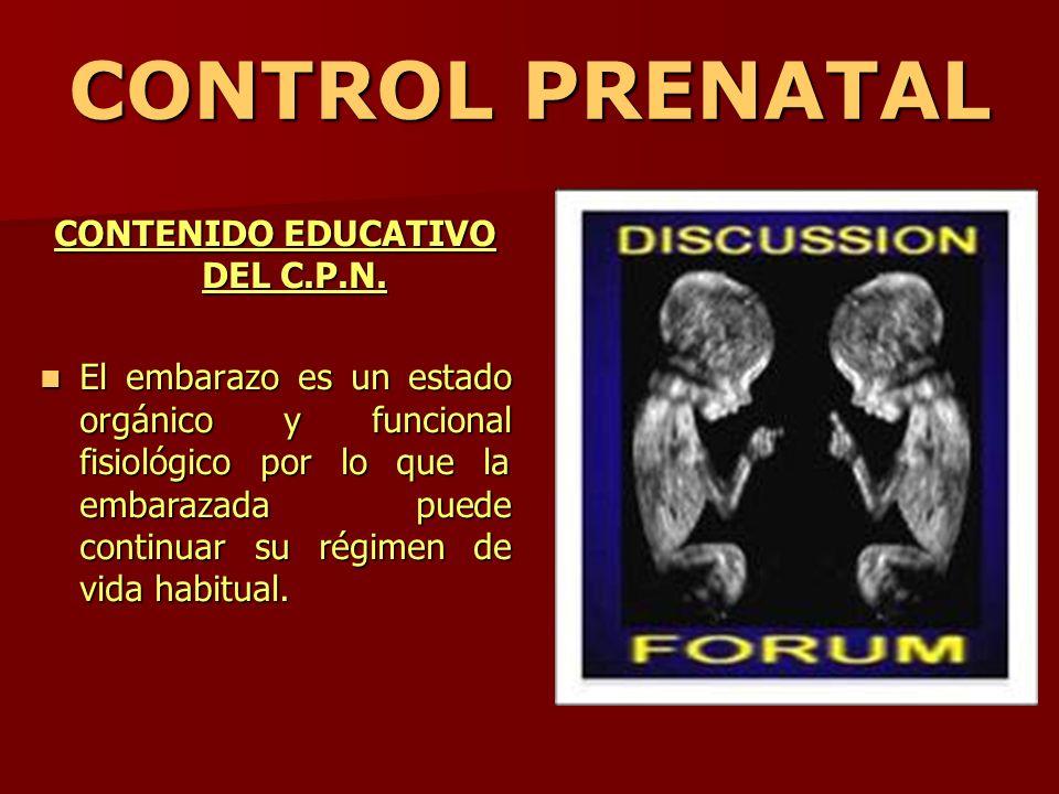 CONTENIDO EDUCATIVO DEL C.P.N.