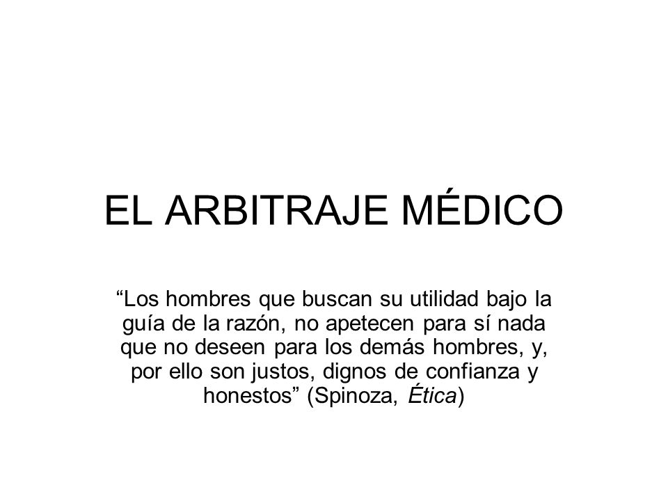 EL ARBITRAJE MÉDICO