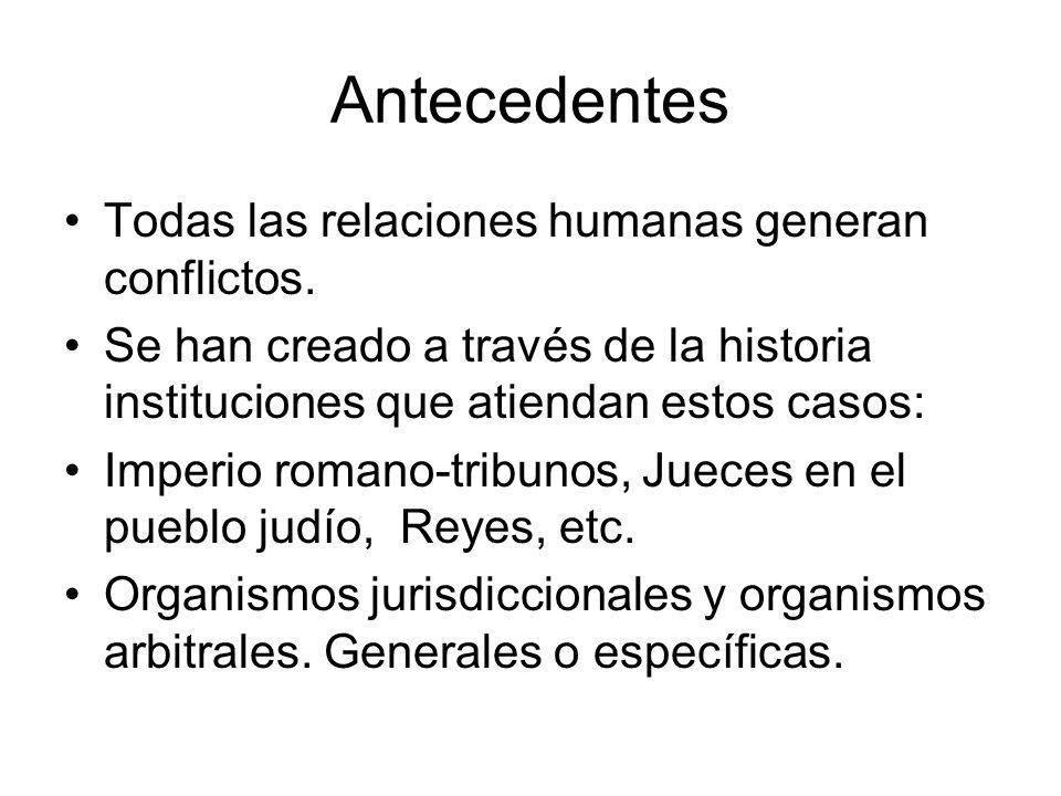 Antecedentes Todas las relaciones humanas generan conflictos.