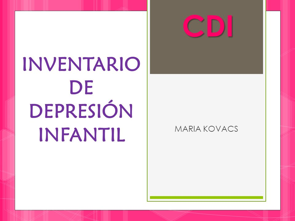 INVENTARIO DE DEPRESIÓN INFANTIL