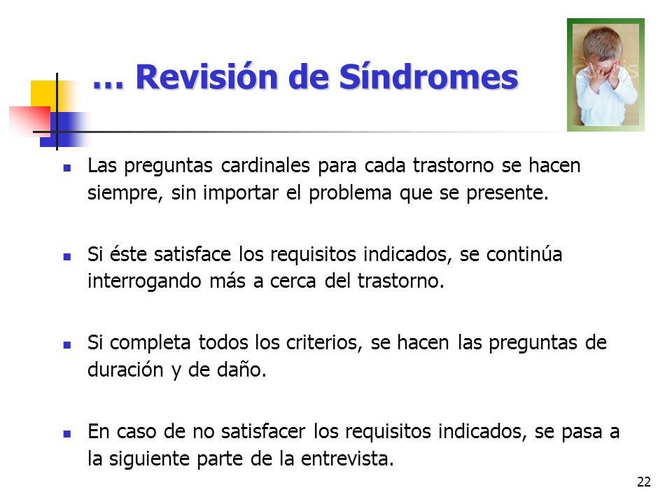 … Revisión de Síndromes