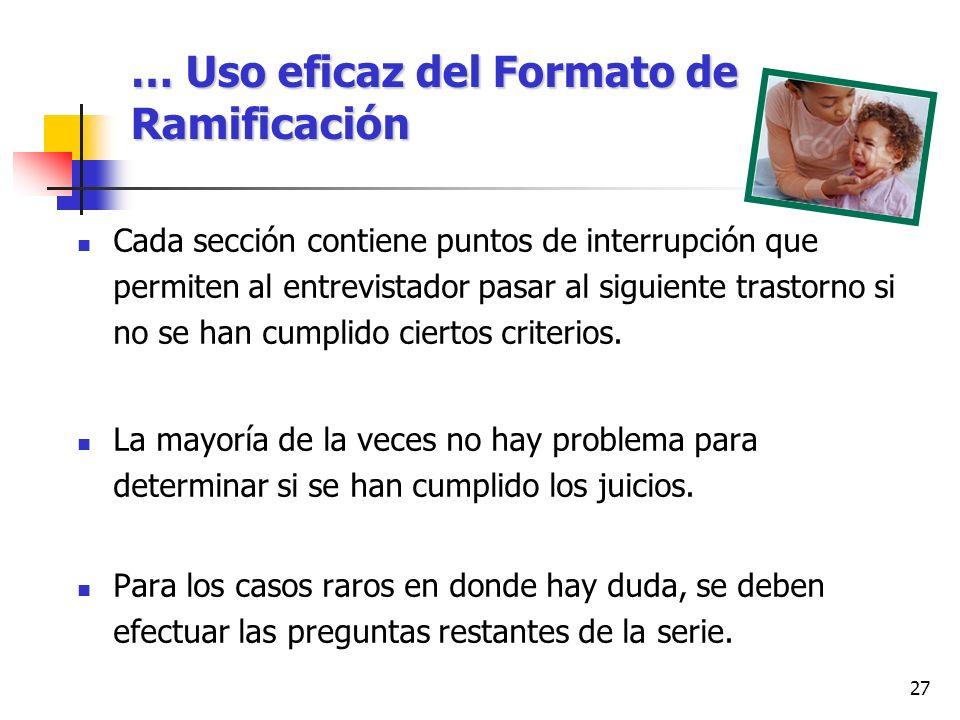 … Uso eficaz del Formato de Ramificación