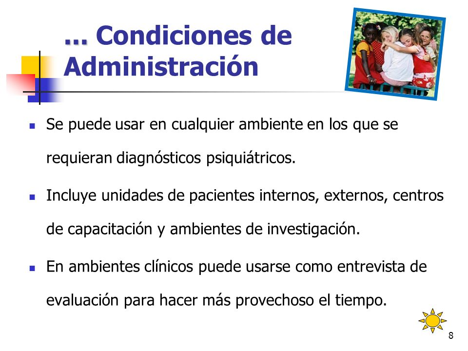 ... Condiciones de Administración