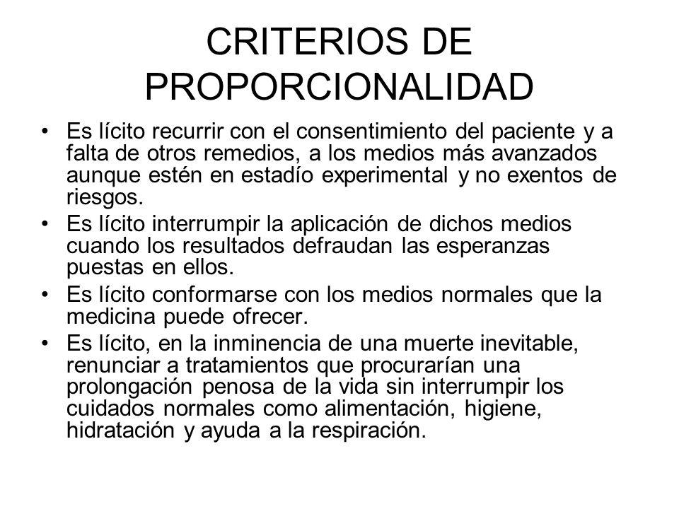 CRITERIOS DE PROPORCIONALIDAD