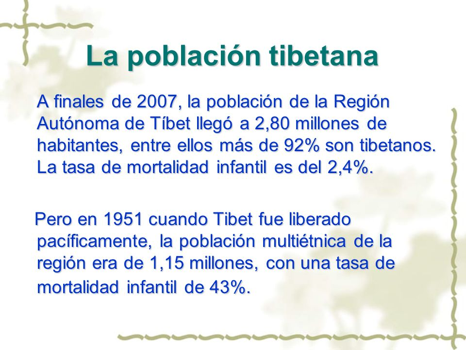 La población tibetana