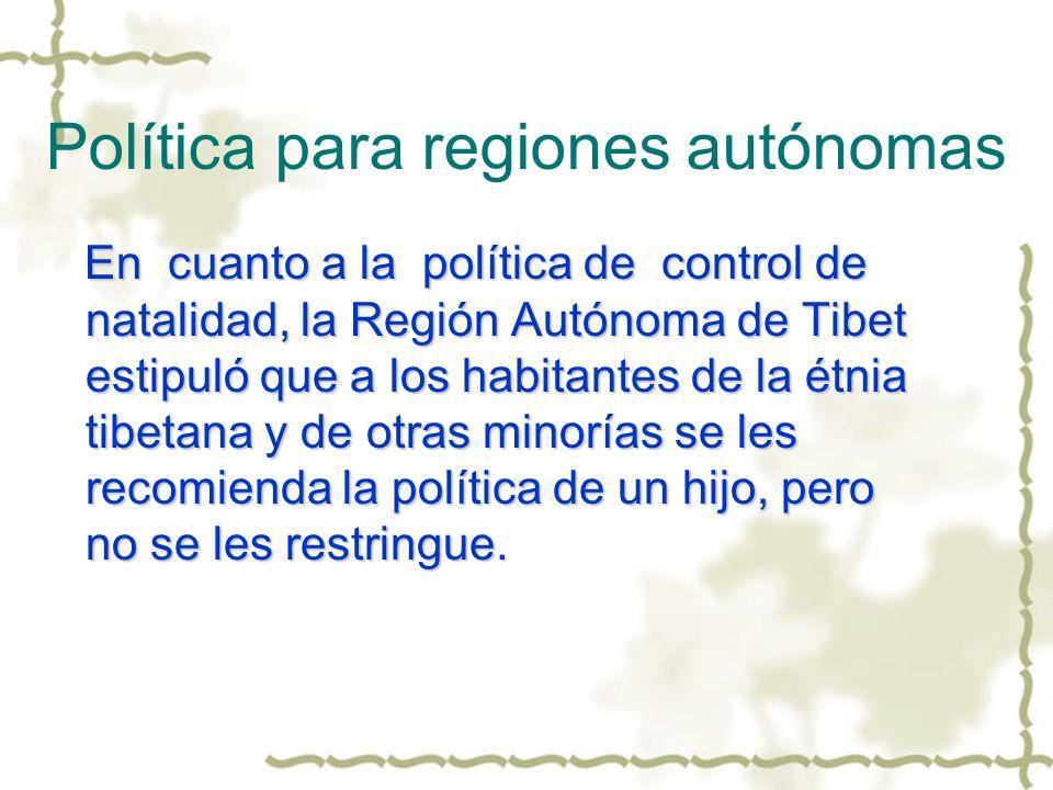 Política para regiones autónomas