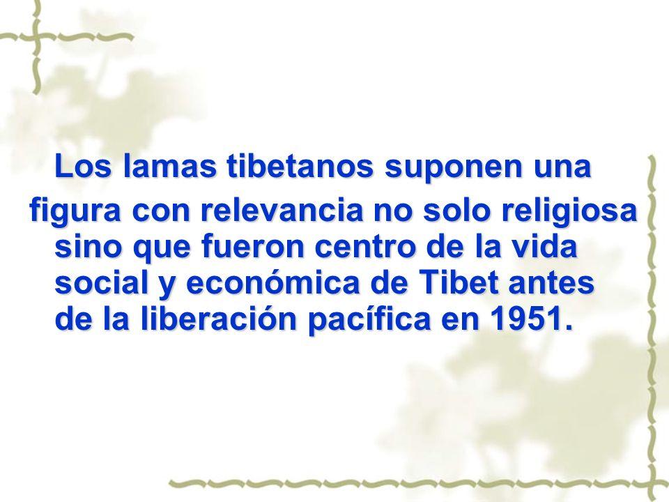 Los lamas tibetanos suponen una