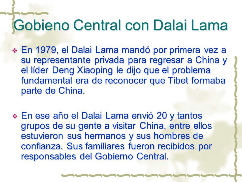 Gobieno Central con Dalai Lama