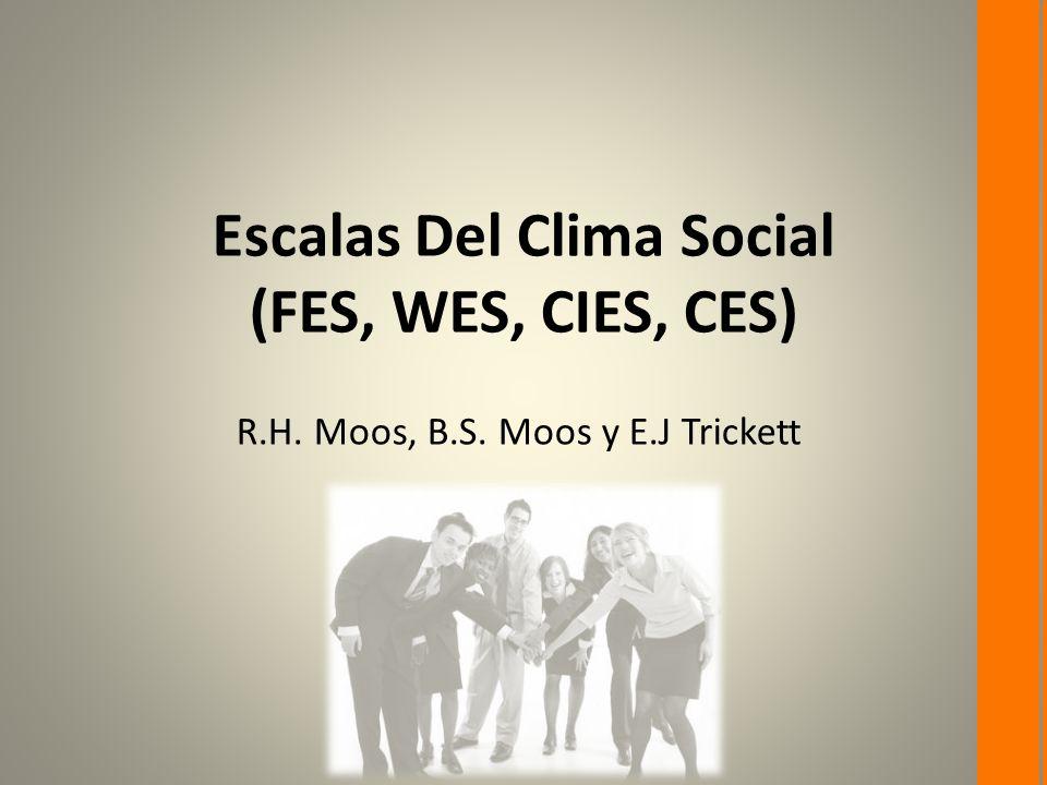 Escalas Del Clima Social (FES, WES, CIES, CES)