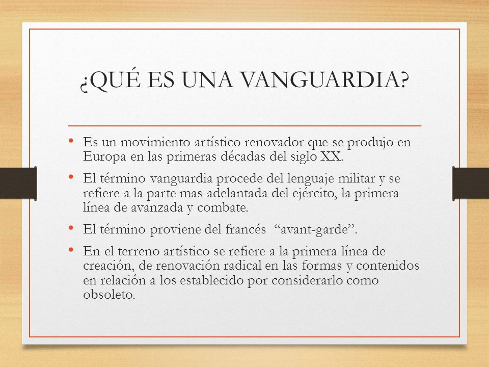 vanguardias art sticas y literarias ppt video online