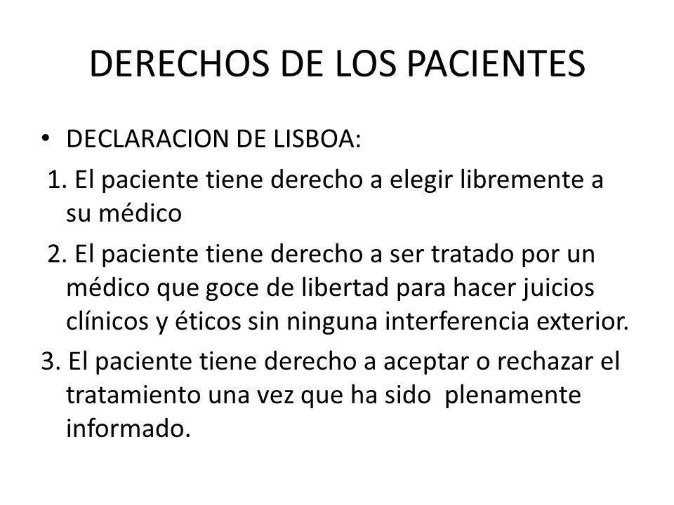 DERECHOS DE LOS PACIENTES