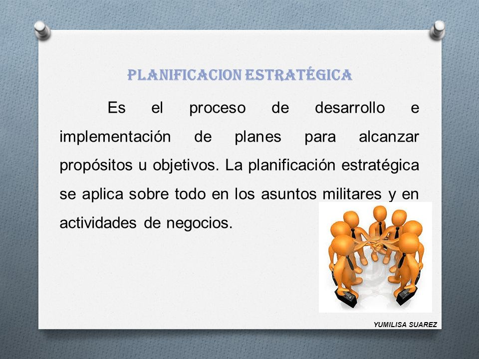 PLANIFICACION ESTRATÉGICA
