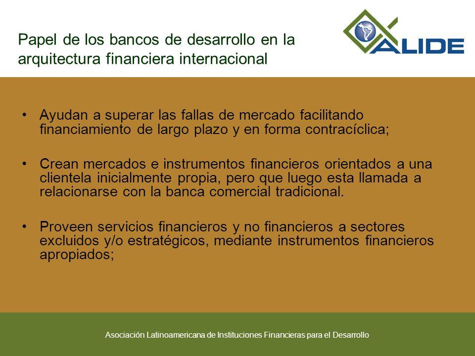 Papel de los bancos de desarrollo en la arquitectura financiera internacional