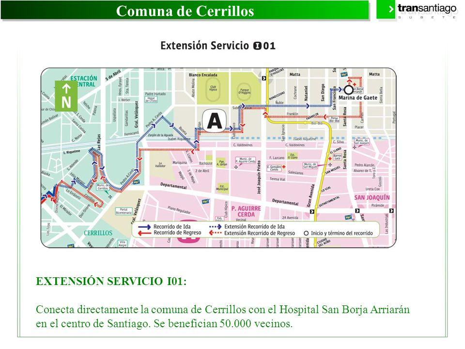 Comuna de Cerrillos EXTENSIÓN SERVICIO I01:
