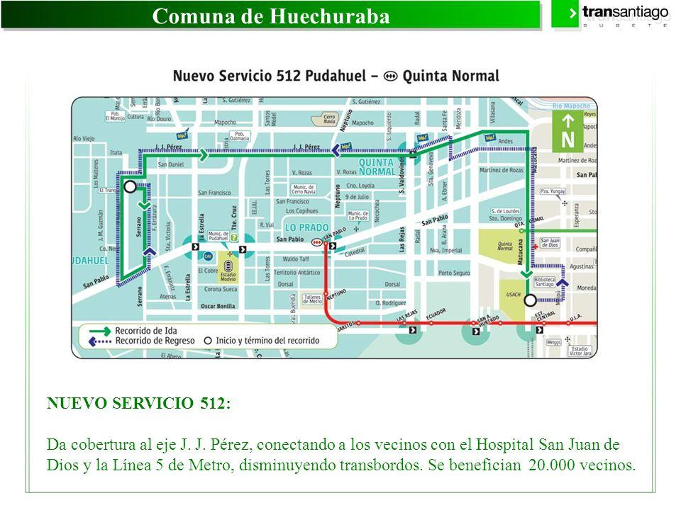 Comuna de Huechuraba NUEVO SERVICIO 512: