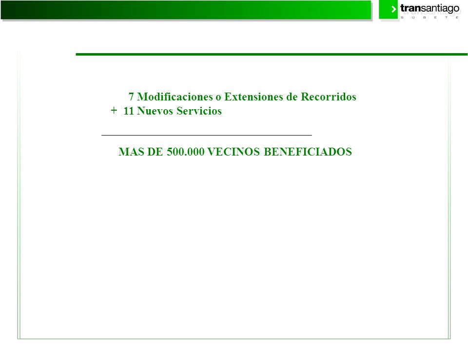 7 Modificaciones o Extensiones de Recorridos