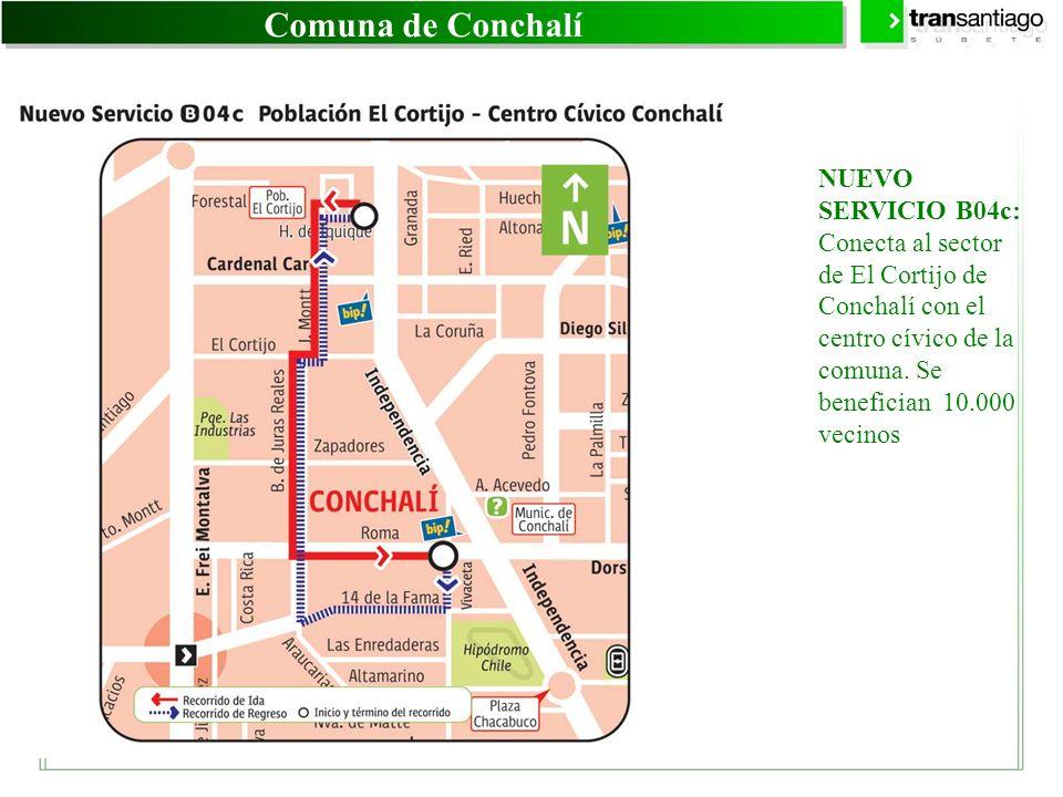 Comuna de Conchalí NUEVO SERVICIO B04c: