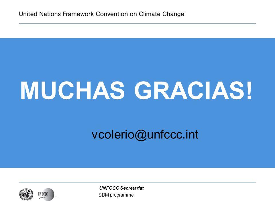 Presentation title MUCHAS GRACIAS! vcolerio@unfccc.int SDM programme