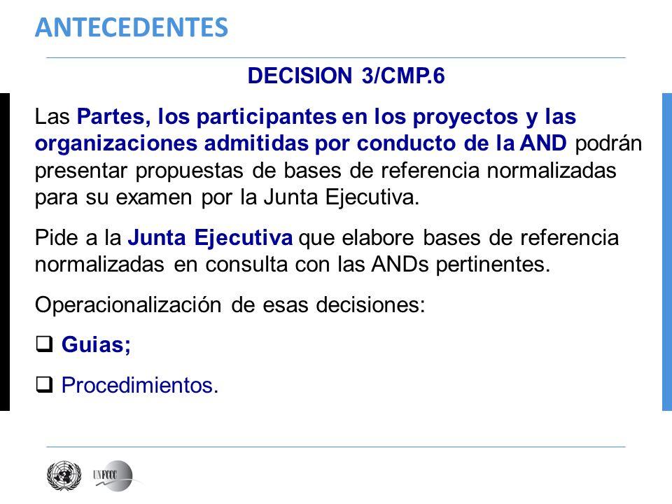 ANTECEDENTES DECISION 3/CMP.6