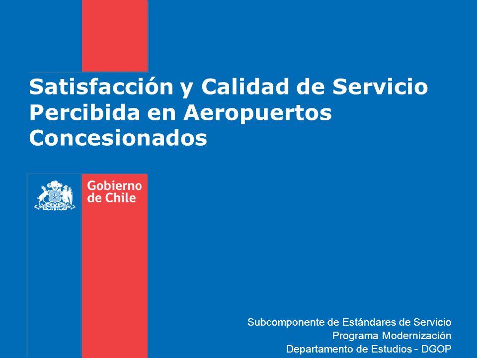 Satisfacción y Calidad de Servicio Percibida en Aeropuertos Concesionados