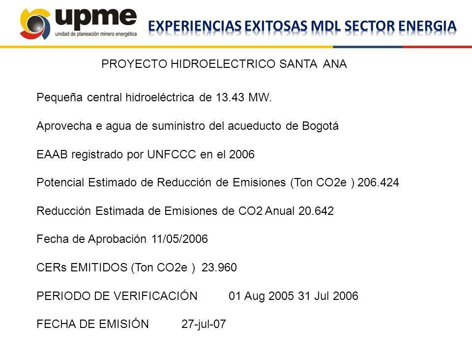 EXPERIENCIAS EXITOSAS MDL SECTOR ENERGIA